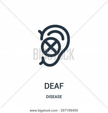 Deaf Icon Isolated On White Background From Disease Collection. Deaf Icon Trendy And Modern Deaf Sym