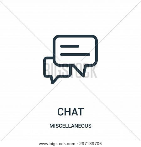 Chat Icon Isolated On White Background From Miscellaneous Collection. Chat Icon Trendy And Modern Ch