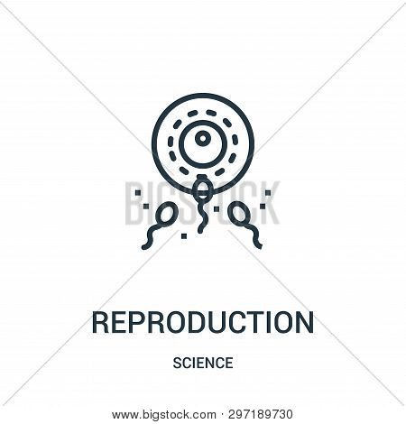 Reproduction Icon Isolated On White Background From Science Collection. Reproduction Icon Trendy And