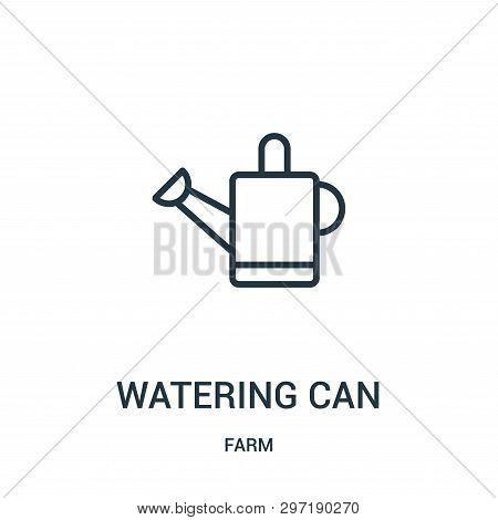 Watering Can Icon Isolated On White Background From Farm Collection. Watering Can Icon Trendy And Mo