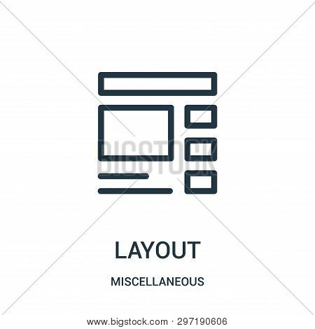 layout icon isolated on white background from miscellaneous collection. layout icon trendy and modern layout symbol for logo, web, app, UI. layout icon simple sign. layout icon flat vector illustration for graphic and web design. poster
