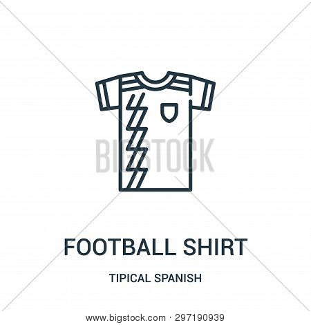 Football Shirt Icon Isolated On White Background From Tipical Spanish Collection. Football Shirt Ico