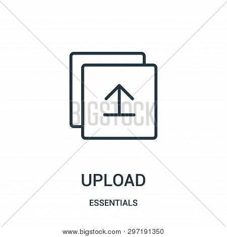 Upload Icon Isolated On White Background From Essentials Collection. Upload Icon Trendy And Modern U
