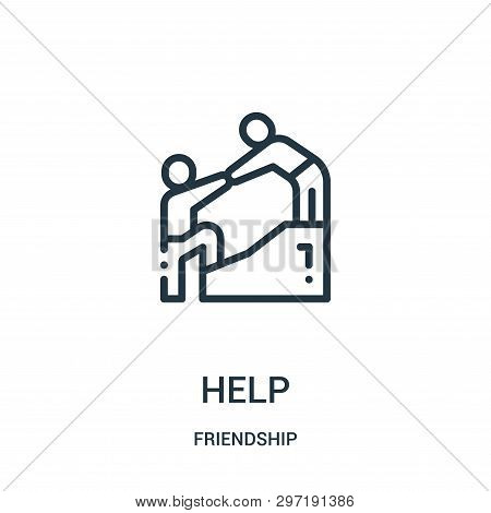 Help Icon Isolated On White Background From Friendship Collection. Help Icon Trendy And Modern Help