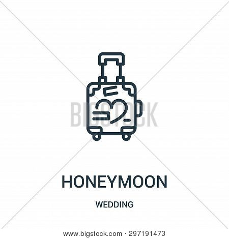 Honeymoon Icon Isolated On White Background From Wedding Collection. Honeymoon Icon Trendy And Moder