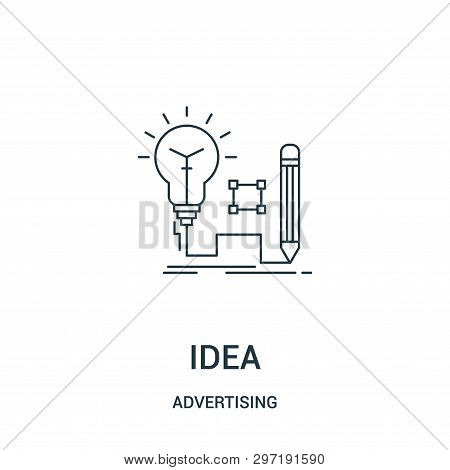 Idea Icon Isolated On White Background From Advertising Collection. Idea Icon Trendy And Modern Idea