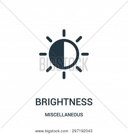 Brightness Icon Isolated On White Background From Miscellaneous Collection. Brightness Icon Trendy A