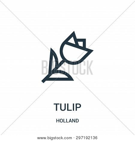 Tulip Icon Isolated On White Background From Holland Collection. Tulip Icon Trendy And Modern Tulip