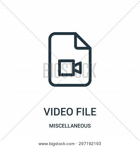 video file icon isolated on white background from miscellaneous collection. video file icon trendy and modern video file symbol for logo, web, app, UI. video file icon simple sign. video file icon flat vector illustration for graphic and web design. poster