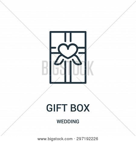 Gift Box Icon Isolated On White Background From Wedding Collection. Gift Box Icon Trendy And Modern