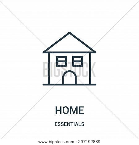 Home Icon Isolated On White Background From Essentials Collection. Home Icon Trendy And Modern Home