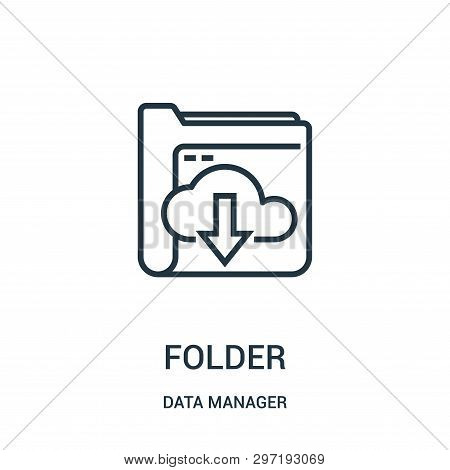 Folder Icon Isolated On White Background From Data Manager Collection. Folder Icon Trendy And Modern