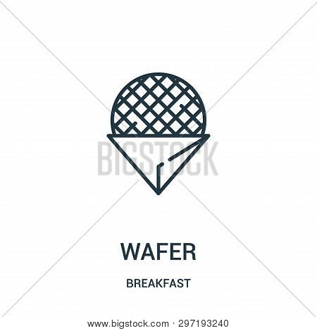 Wafer Icon Isolated On White Background From Breakfast Collection. Wafer Icon Trendy And Modern Wafe