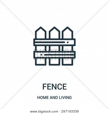 Fence Icon Isolated On White Background From Home And Living Collection. Fence Icon Trendy And Moder