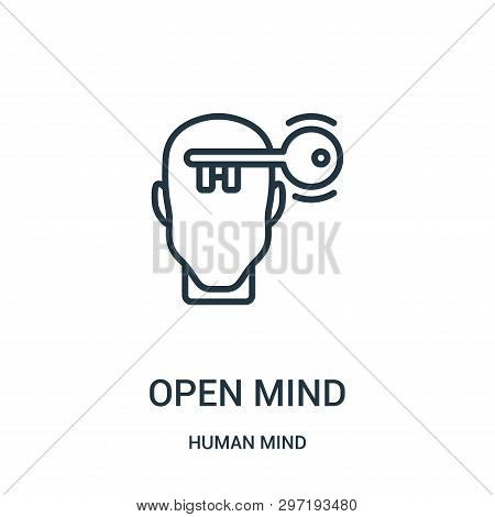 Open Mind Icon Isolated On White Background From Human Mind Collection. Open Mind Icon Trendy And Mo