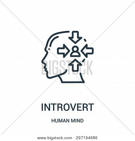Introvert Icon Isolated On White Background From Human Mind Collection. Introvert Icon Trendy And Mo