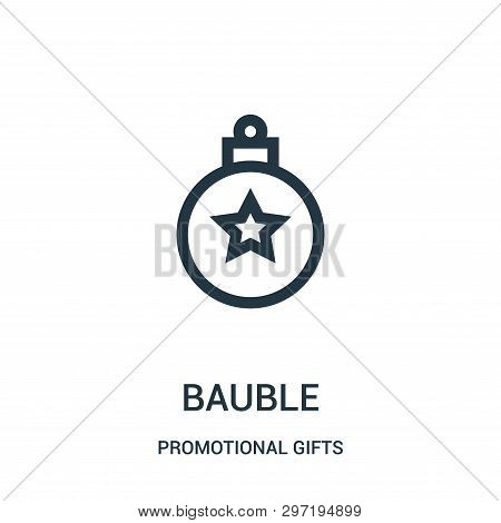 Bauble Icon Isolated On White Background From Promotional Gifts Collection. Bauble Icon Trendy And M