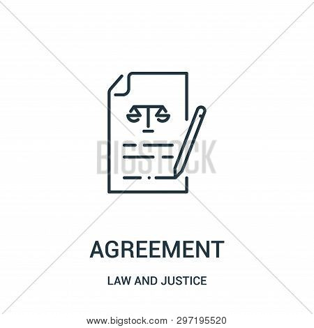 Agreement Icon Isolated On White Background From Law And Justice Collection. Agreement Icon Trendy A