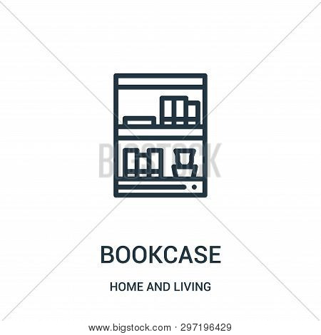 Bookcase Icon Isolated On White Background From Home And Living Collection. Bookcase Icon Trendy And