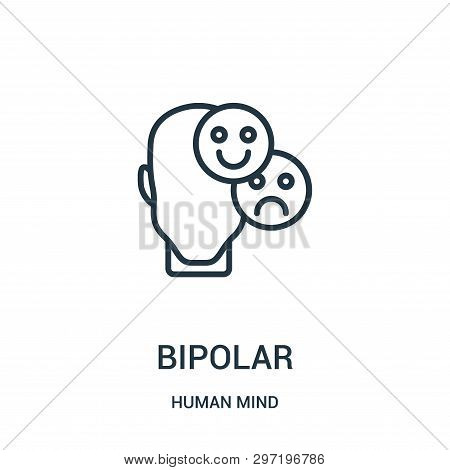 Bipolar Icon Isolated On White Background From Human Mind Collection. Bipolar Icon Trendy And Modern