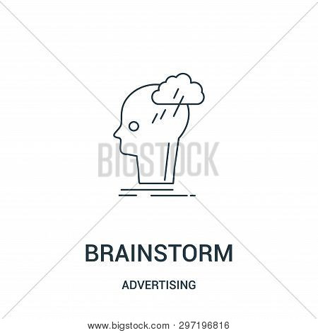 Brainstorm Icon Isolated On White Background From Advertising Collection. Brainstorm Icon Trendy And