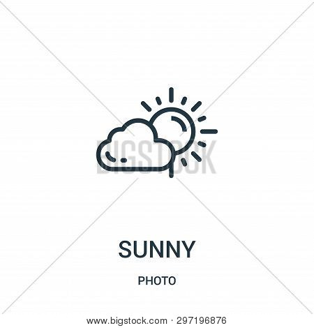 Sunny Icon Isolated On White Background From Photo Collection. Sunny Icon Trendy And Modern Sunny Sy