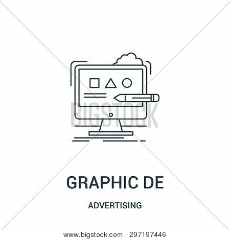 Graphic Design Icon Isolated On White Background From Advertising Collection. Graphic Design Icon Tr