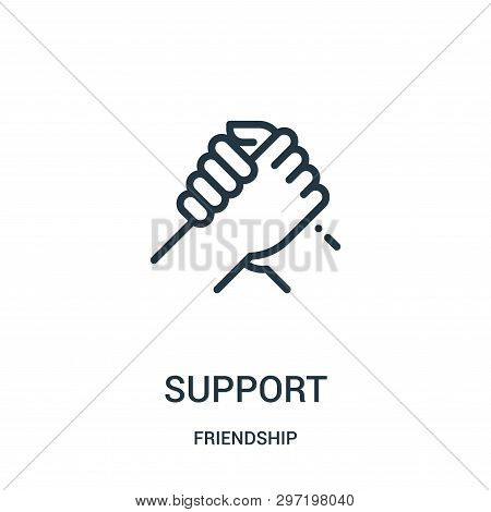 Support Icon Isolated On White Background From Friendship Collection. Support Icon Trendy And Modern