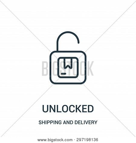 Unlocked Icon Isolated On White Background From Shipping And Delivery Collection. Unlocked Icon Tren