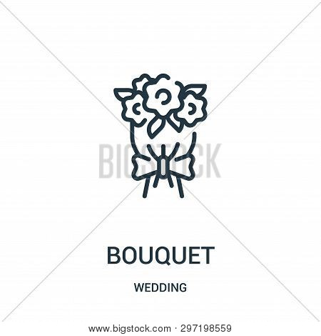 Bouquet Icon Isolated On White Background From Wedding Collection. Bouquet Icon Trendy And Modern Bo