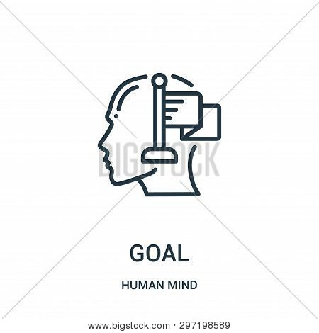 Goal Icon Isolated On White Background From Human Mind Collection. Goal Icon Trendy And Modern Goal