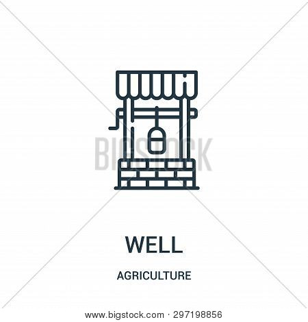 Well Icon Isolated On White Background From Agriculture Collection. Well Icon Trendy And Modern Well