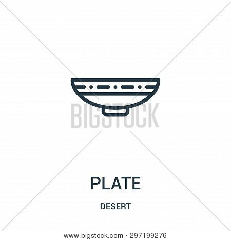 Plate Icon Isolated On White Background From Desert Collection. Plate Icon Trendy And Modern Plate S