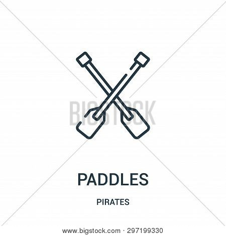 Paddles Icon Isolated On White Background From Pirates Collection. Paddles Icon Trendy And Modern Pa