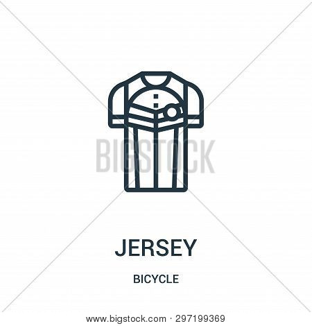 Jersey Icon Isolated On White Background From Bicycle Collection. Jersey Icon Trendy And Modern Jers