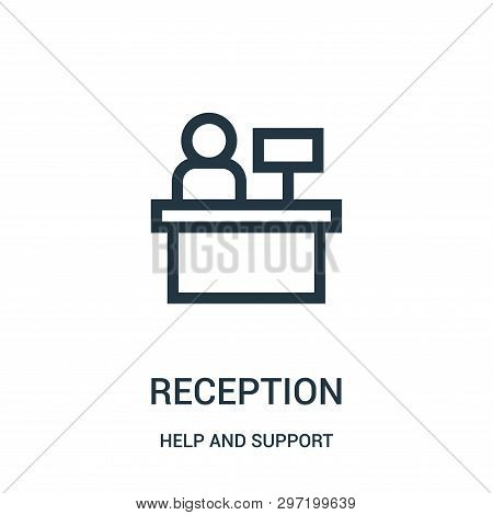Reception Icon Isolated On White Background From Help And Support Collection. Reception Icon Trendy