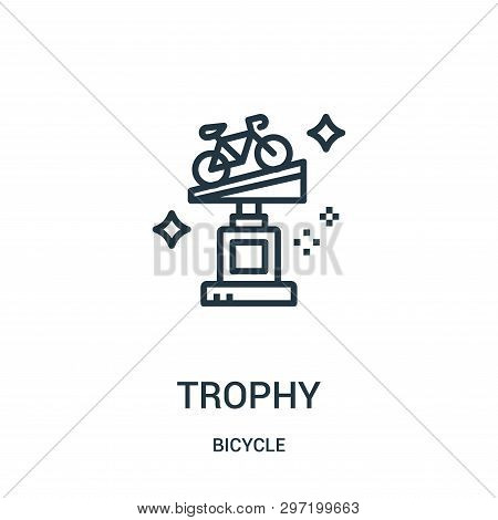 Trophy Icon Isolated On White Background From Bicycle Collection. Trophy Icon Trendy And Modern Trop
