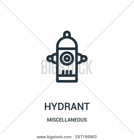 Hydrant Icon Isolated On White Background From Miscellaneous Collection. Hydrant Icon Trendy And Mod