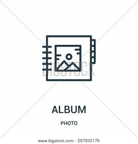 Album Icon Isolated On White Background From Photo Collection. Album Icon Trendy And Modern Album Sy