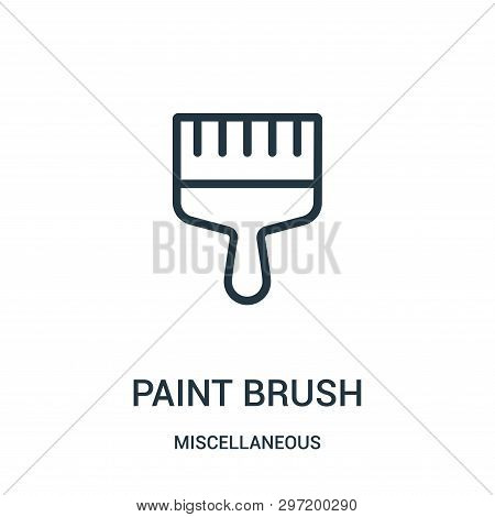 paint brush icon isolated on white background from miscellaneous collection. paint brush icon trendy and modern paint brush symbol for logo, web, app, UI. paint brush icon simple sign. paint brush icon flat vector illustration for graphic and web design. poster