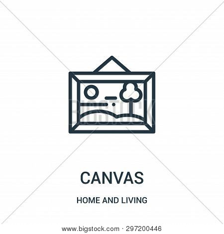 Canvas Icon Isolated On White Background From Home And Living Collection. Canvas Icon Trendy And Mod