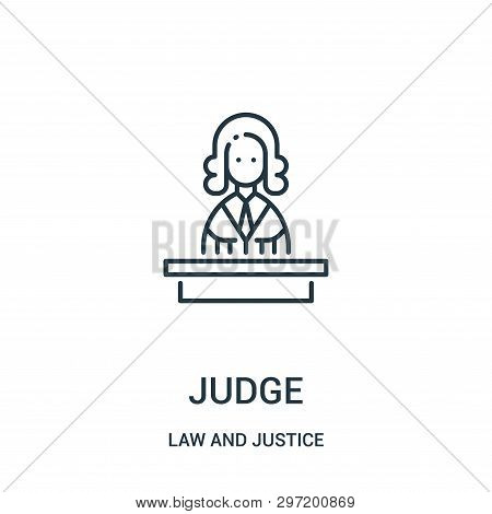 Judge Icon Isolated On White Background From Law And Justice Collection. Judge Icon Trendy And Moder