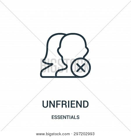 Unfriend Icon Isolated On White Background From Essentials Collection. Unfriend Icon Trendy And Mode