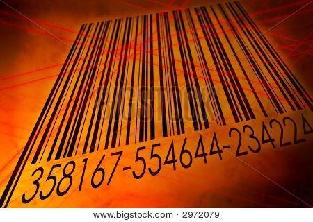 Barcode Scanned By Laser Reader