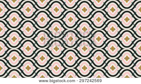Arabic Pattern Background.  Retro Fabric Texture Wallpaper.  Creative Luxry Graphic Art Decor. Seaml