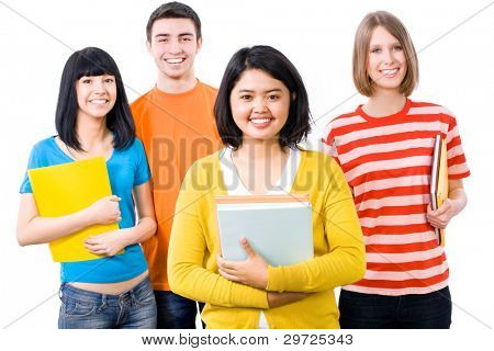 A multi-racial group of College students