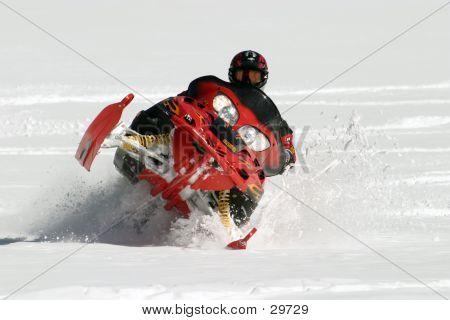 Free-style Snowmobiler