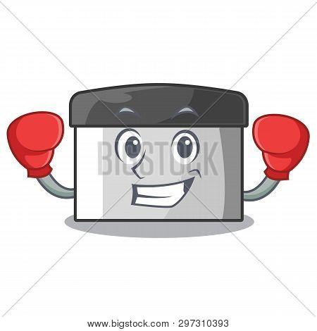 Boxing Character Pastry Scraper In Wooden Cupboard