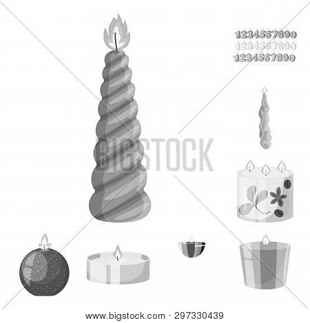 Vector Illustration Of Paraffin And Fire  Symbol. Collection Of Paraffin And Decoration    Stock Vec