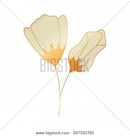 Flower With Sepal Isolated Icon Vector Illustration Desing